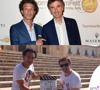 Ficarra e Picone Taormina Film Fest abiti Lardini Andiamo a quel paese tshirt Rude is Cool