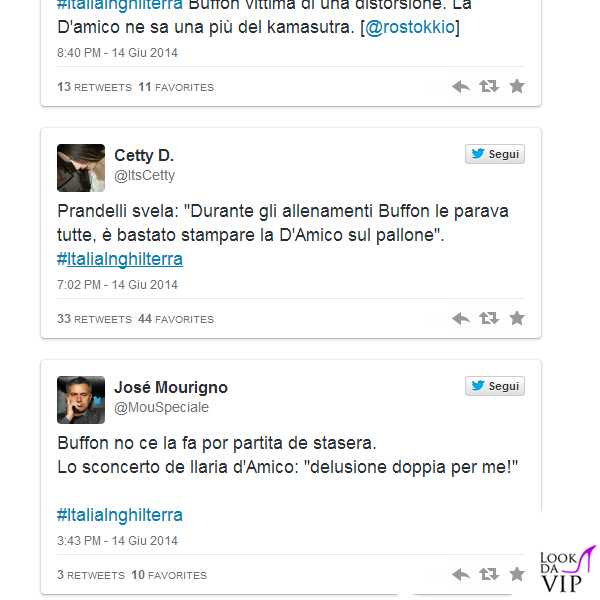 Ilaria D'Amico Gigi Buffon tweet 2