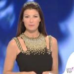 Ilaria D'Amico Sky abito Versace Collection