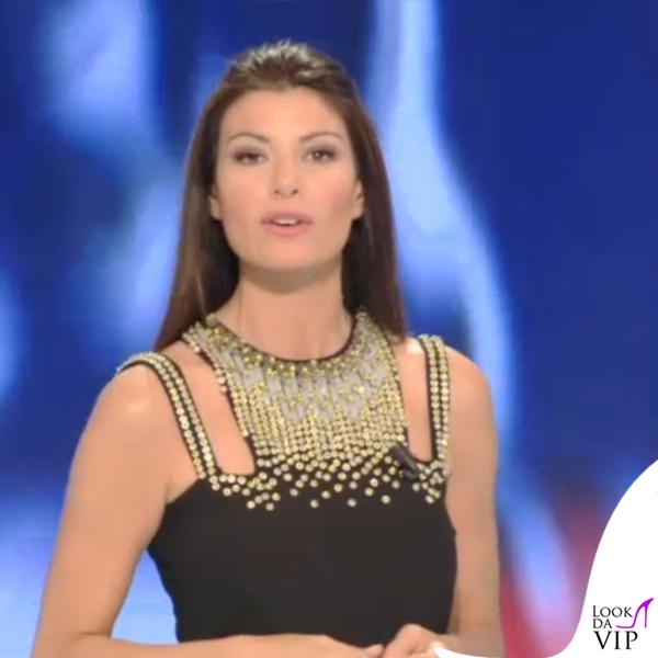 Ilaria D'Amico Sky abito Versace Collection 2