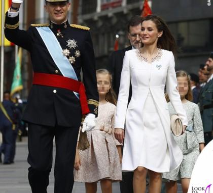 Incoronazione Re Felipe VI di Spagna Letizia Ortiz abito Felipe Varela scarpe Magrit 4