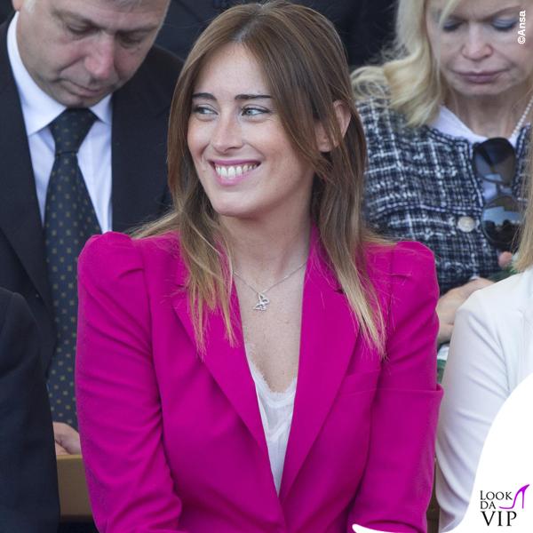 Maria Elena Boschi festa della Repubblica tailleur Zara collana Swarovski 2