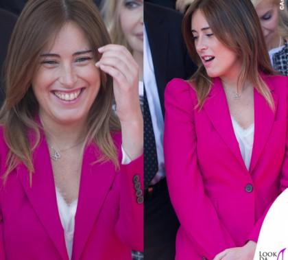 Maria Elena Boschi festa della Repubblica tailleur Zara collana Swarovski