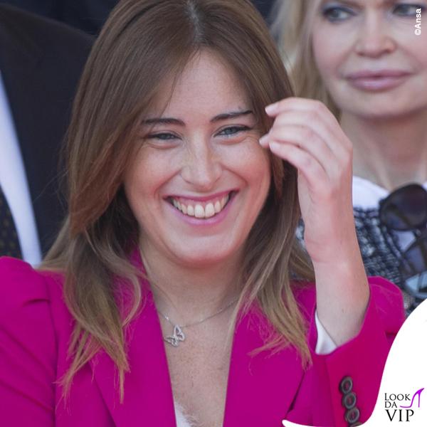 Maria Elena Boschi festa della Repubblica tailleur Zara collana Swarovski 3