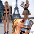 Maria Sharapova Roland Garros abito Jay Ahr scarpe Louboutin total Nike