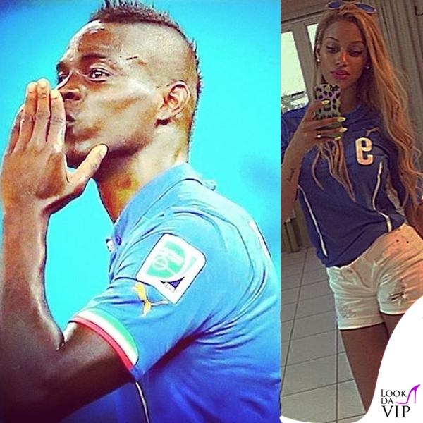 Mario Balotelli Fanny Neguesha Puma maglie ufficiali Nazionale Italiana Mondiali 2014