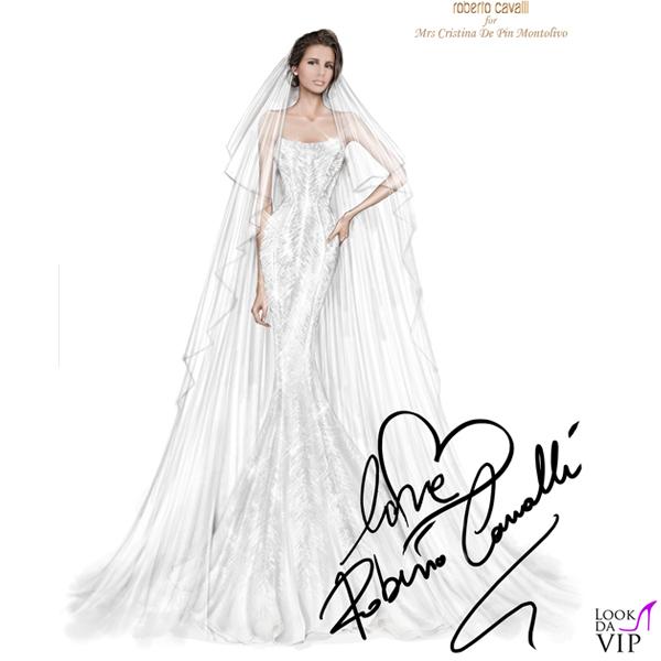 innovative design b87f9 a9372 Matrimonio Cristina De Pin Riccardo Montolivo bozzetto abito ...