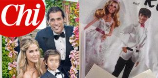 Matrimonio Elena Santarelli abito Alberta Ferretti Bernardo Corradi abito Alessandro Martorana CHI confetti maglietta
