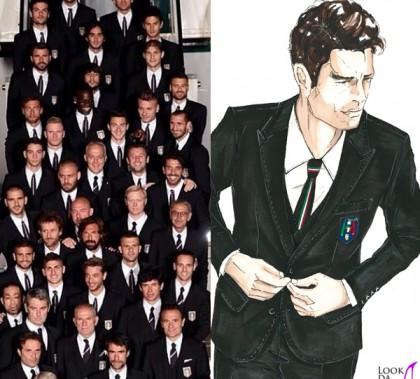 Nazionale Italiana Calcio Rio De Janeiro Brasile Mondiali 2014 divise Dolce&Gabbana