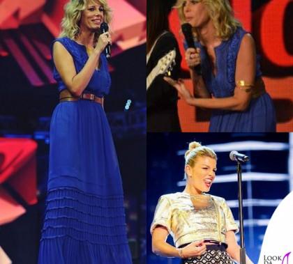 Coca-Cola-Summer-Festival-Alessia-Marcuzzi-abito-Alberta-Ferretti-Emma Marrone chiodo shorts Pinko scarpe Greymer