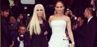 Donatella Versace Jennifer Lopez abito Atelier Versace autunno inverno 2014 Paris Haute Couture