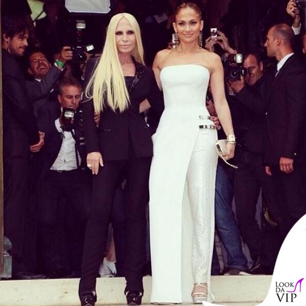 183ff5f32aea Donatella Versace Jennifer Lopez abito Atelier Versace autunno inverno 2014  Paris Haute Couture
