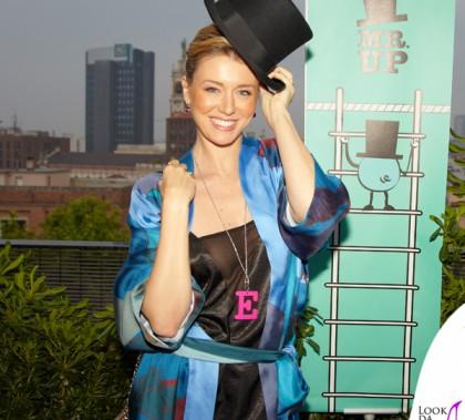 Elena Barolo top Asos kimono e pantaloni Sans Tabu ciondolo MrUp décolleté Schutz