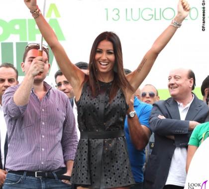 Elisabetta Gregoraci Coppa Sila abito Drome scarpe Christian Louboutin