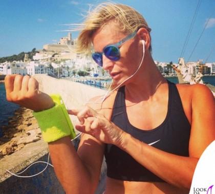Federica Fontana top Nike occhiali Alsteca running band cover Puro