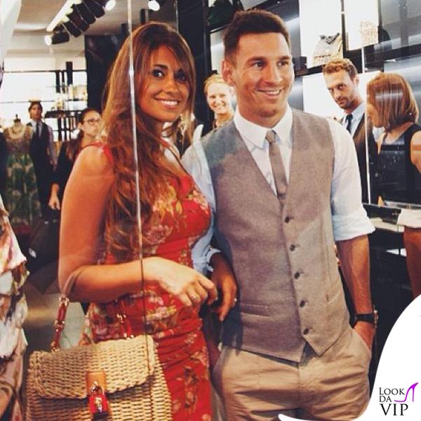 Lionel Messi Antonella Roccuzzo abito borsa Dolce e Gabbana 2