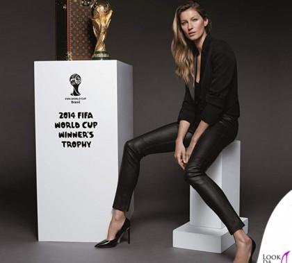 Mondiali 2014 Gisele Bundchen Coppa del Mondo FIFA baule Louis Vuitton