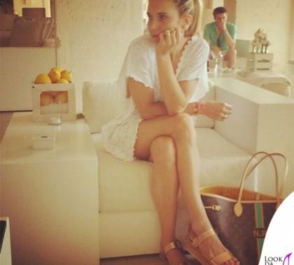 Nicoletta Romanoff abito Flavia Padovan borsa Louis Vuitton sandali Zara 2