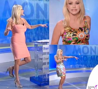 Paola Ferrari Diario Mondiale abito Herve Leger abiti Dolce e Gabbana