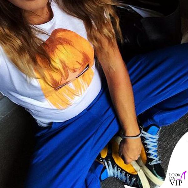 Carolina Marcialis tshirt Dsquared2 pantaloni Hmfs sneakers Golden Goose 2