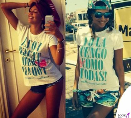 Costanza Caracciolo Cristina Chiabotto tshirt Tee Trend Laura
