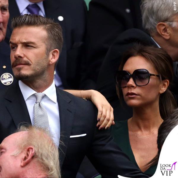 David Victoria Beckham Wimbledon 2012