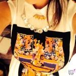 Laura Pausini The Voice abito Alberta Ferretti scarpe O Jour collana Liat Ginzburg 2