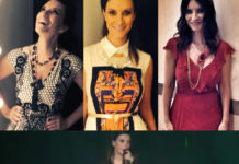 Laura Pausini The Voice abito Roberto Cavalli abiti Alberta Ferretti