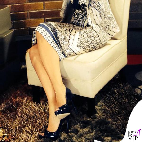 Laura Pausini The Voice abito Roberto Cavalli scarpe Gianmarco Lorenzi gioielli Reminiscence Paris Sharra Pagano 4
