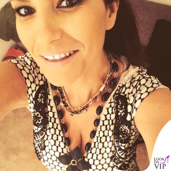 Laura Pausini The Voice abito Roberto Cavalli scarpe Gianmarco Lorenzi gioielli Reminiscence Paris Sharra Pagano