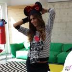 Melissa Satta pigiama Buccia di Mela Dolce I love