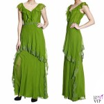 abito Alberta Ferretti tulle verde