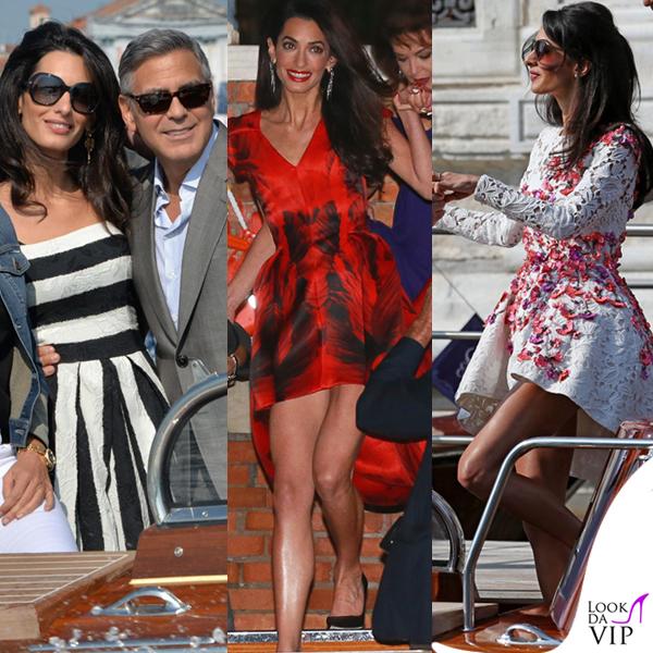 Amal Alamuddin abito Dolce&Gabbana abito Alexander McQueen abito Giambattista Valli Couture Venezia Clooney Wedding