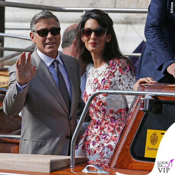 Amal Alamuddin abito Giambattista Valli Couture George Clooney Venezia Clooney Wedding 2