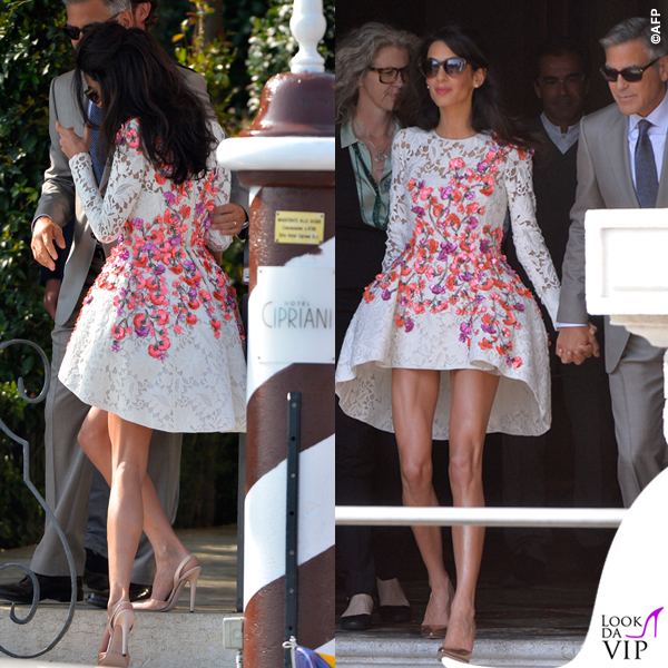 Amal Alamuddin abito Giambattista Valli Couture George Clooney Venezia Clooney Wedding 7