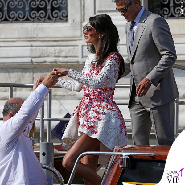 Amal Alamuddin abito Giambattista Valli Couture George Clooney Venezia Clooney Wedding