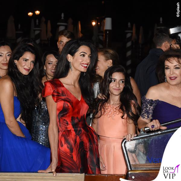 Amal Alamuddin vestito Alexander McQueen Venezia Clooney Wedding 3