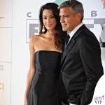 Celebrity Fight Night Firenze Amal Alamuddin abito Dolce e Gabbana George Clooney