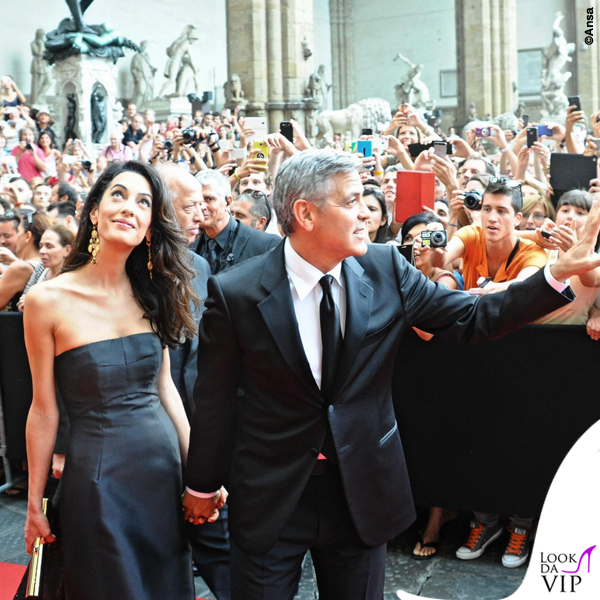 Celebrity Fight Night Firenze Amal Alamuddin abito Dolce e Gabbana George Clooney 3