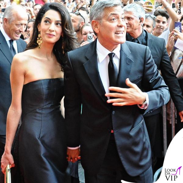 Celebrity Fight Night Firenze Amal Alamuddin abito Dolce e Gabbana George Clooney 4