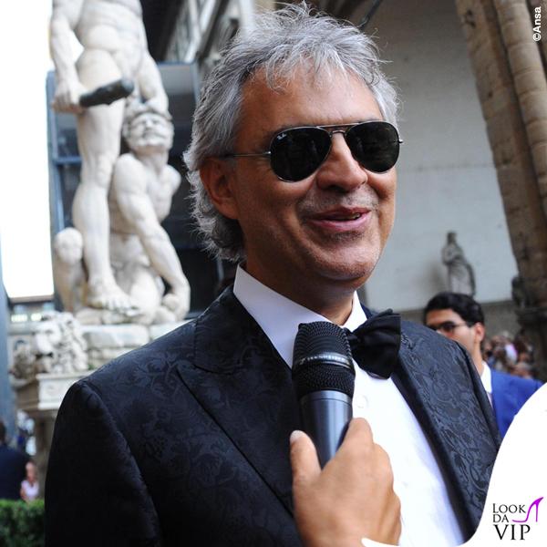 Celebrity Fight Night Firenze Andrea Bocelli total Ermanno Scervino