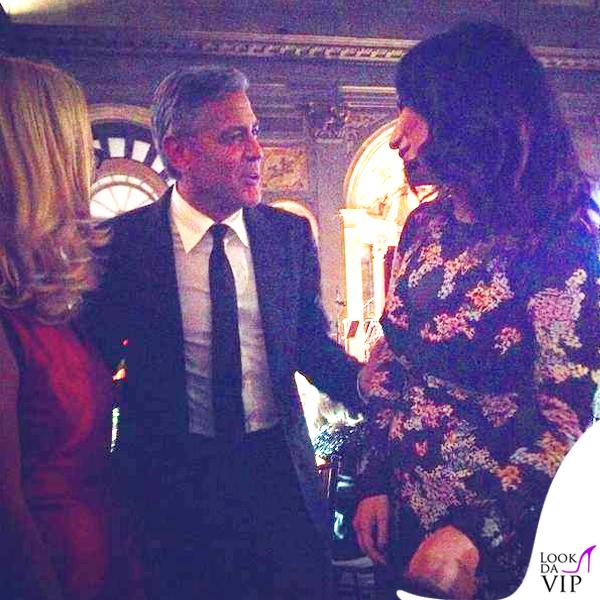 Celebrity Fight Night Firenze George Clooney Laura Pausini abito Ermanno Scervino