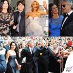 Celebrity Fight Night Firenze Laura Pausini Paolo Carta Michelle Hunziker Veronice Andrea Bocelli George Clooney Amal