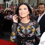Celebrity Fight Night Firenze Laura Pausini abito Ermanno Scervino