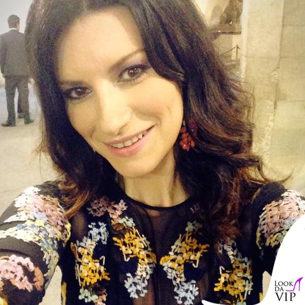 Celebrity Fight Night Firenze Laura Pausini abito Ermanno Scervino 3