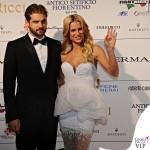 Celebrity Fight Night Firenze Tomaso Trussardi Michelle Hunziker abito Ermanno Scervino