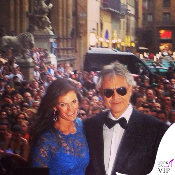 Celebrity Fight Night Firenze Veronica Andrea Bocelli total Ermanno Scervino 2