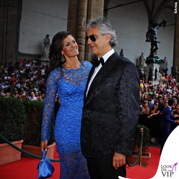 Celebrity Fight Night Firenze Veronica Andrea Bocelli total Ermanno Scervino