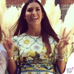 Elisabetta Gregoraci Made in Sud abito Dolce e Gabbana bracciali Cartier 10