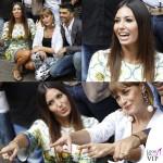 Elisabetta Gregoraci Made in Sud abito Dolce e Gabbana bracciali Cartier